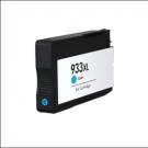 Cartouche rechargée HP 933XL / Cyan / Rechargé / AVEC niveau d'encre affiché.