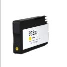 Cartouche rechargée HP 933XL / Jaune / Rechargé / AVEC niveau d'encre affiché.