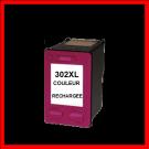 Cartouche rechargée HP 302XL /  Couleur / Rechargé