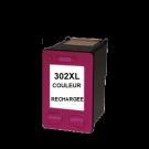 Cartouche rechargée HP 302XL /  Couleur / Rechargé SCV