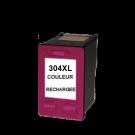 Cartouche rechargée HP 304XL /  Couleur / Rechargé / 400 pages SCV