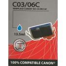 Cartouche compatible Canon BCI-6 / Cyan 15 ml
