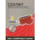 Cartouche compatible Canon BCI-6 / Jaune 15 ml