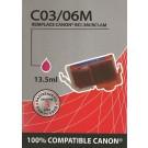 Cartouche compatible Canon BCI-3e / Magenta 15 ml