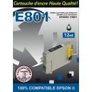 Cartouche compatible Epson T0801 / Noir 12 ml