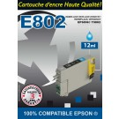 Cartouche compatible Epson T0802 / Cyan 12 ml