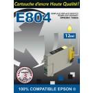 Cartouche compatible Epson T0804 / Jaune 12 ml