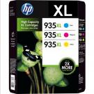 Cartouche d'encre HP 935XL Pack CMJ Original (HP F6U78AE)